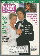 Soap Opera Digest January 23, 1990 Ronn Moss and Joanna Johnson from BB