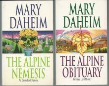 Lot of Two Emma Lord Cozy Mysteries by Mary Daheim Nemesis/Obituary 14,15