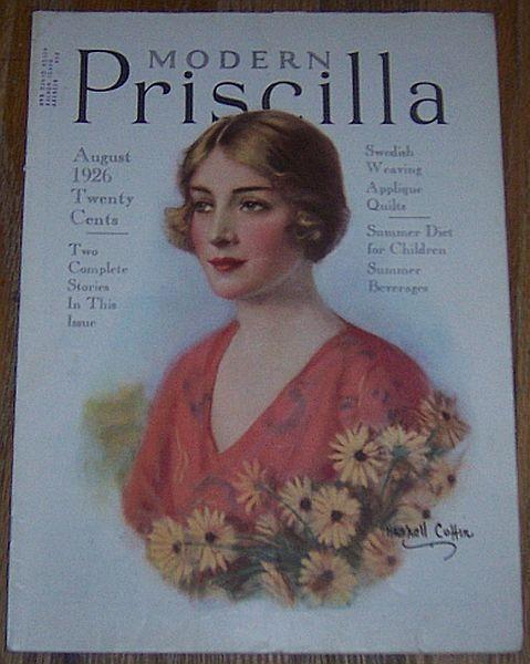 Modern Priscilla Magazine August 1926 Cover Haskell Coffin/Summer Menu/Cakes