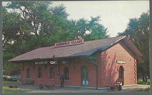 Vintage Postcard of Smith Creek Depot, Greenfield Village, Dearborn, Michigan
