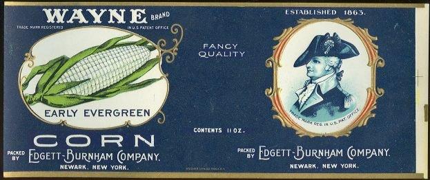 Wayne Brand Corn Can Label