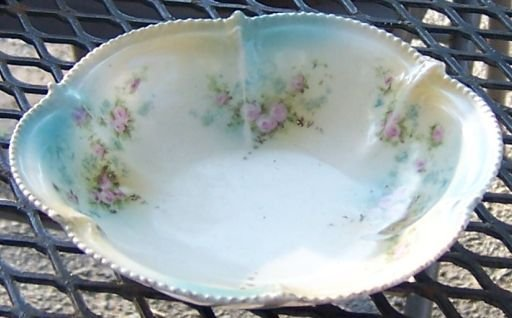 Pretty Floral Handpainted Small Dish