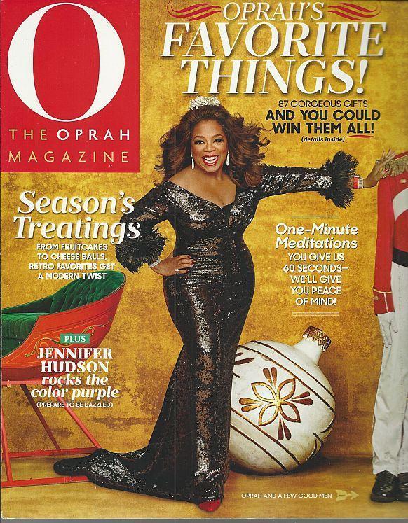 O the Oprah Magazine December 2015 Jennifer Hudson/Favorite Things/Gifts/Recipes