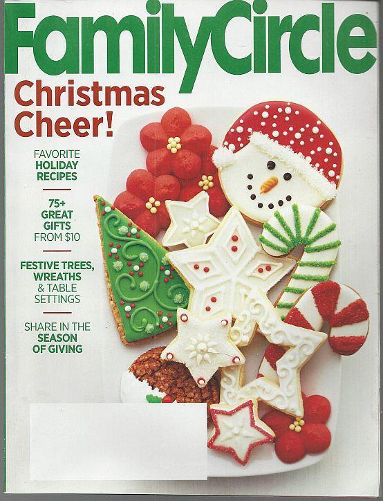 Family Circle Magazine December 2015 Christmas Cheer Cover/Tartans/Amanda Peet