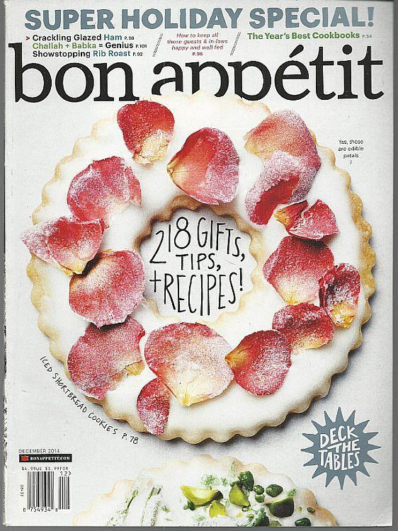 Bon Appetit Magazine December 2014 Confections/Centerpiece Entrees/Norway/NY