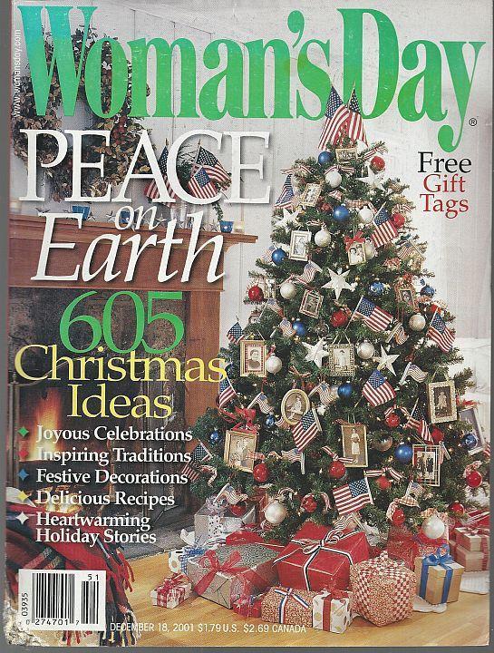 Woman's Day Magazine December 18, 2001 Peace on Earth/605 Christmas Ideas