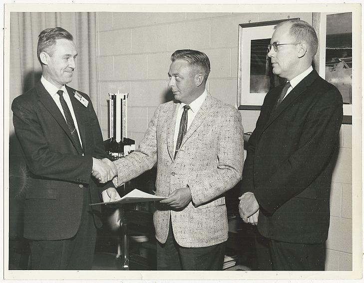Original Photograph of Three Men at Marshall Space Flight Center, Huntsville AL