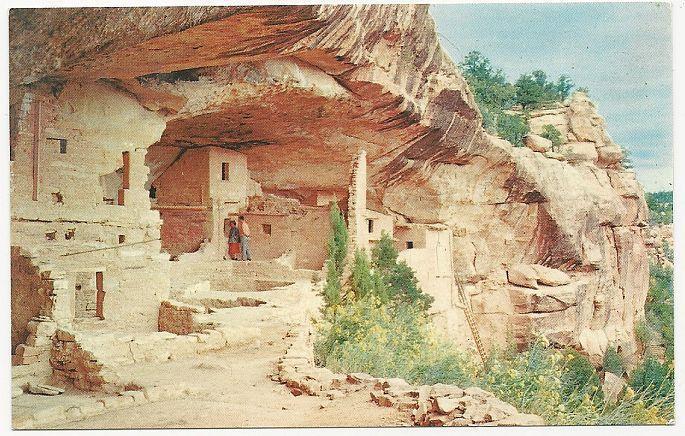 Unused Postcard of Balcony House Ruin, Mesa Verde National Park, Colorado