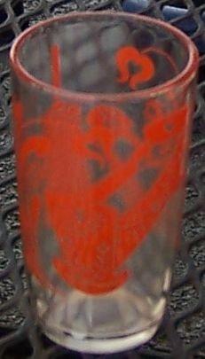 Orange Antique Design Swanky Swig Kraft Glass