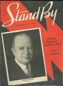 Stand By WLS Magazine December 18, 1937 Glenn Synder