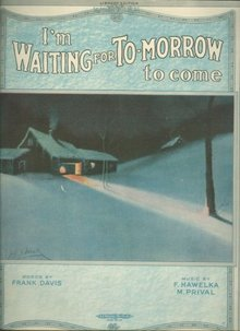 I'm Waiting for To-Morrow to Come 1920 Sheet Music