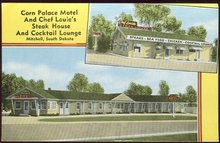 Postcard of Corn Palace Motel Mitchell, South Dakota