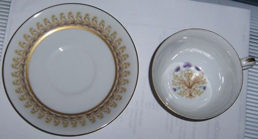 Fuji China Royal Thistle Cup and Saucer Occupied Japan