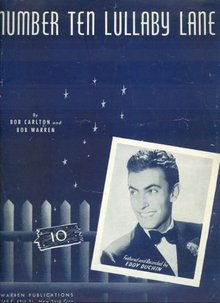 Number Ten Lullaby Lane Recorded by Eddy Duchin in 1940