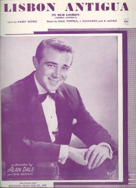 Lisbon Antigua Sung by Alan Dale 1954 Sheet Music