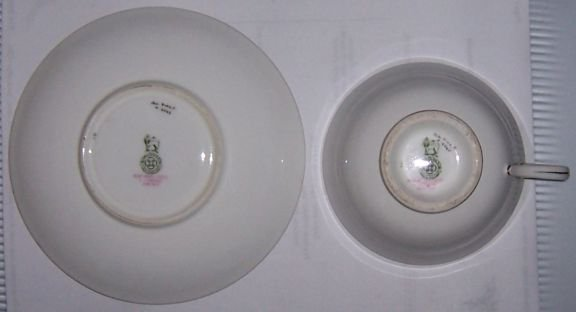 Royal Doulton Gold and Floral Cup and Saucer