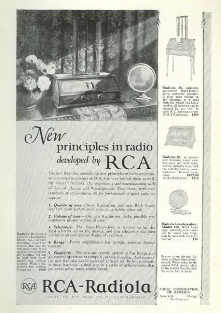 RCA-Radiola 1925 Magazine Advertisement