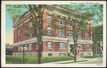 Postcard of Masonic Temple, Manistee, Michigan