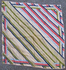 Echo Brightly Striped Square Scarf