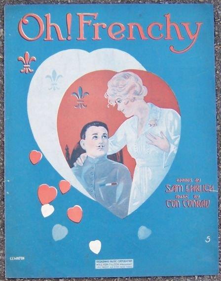Oh Frenchy 1918 World War I Sheet Music
