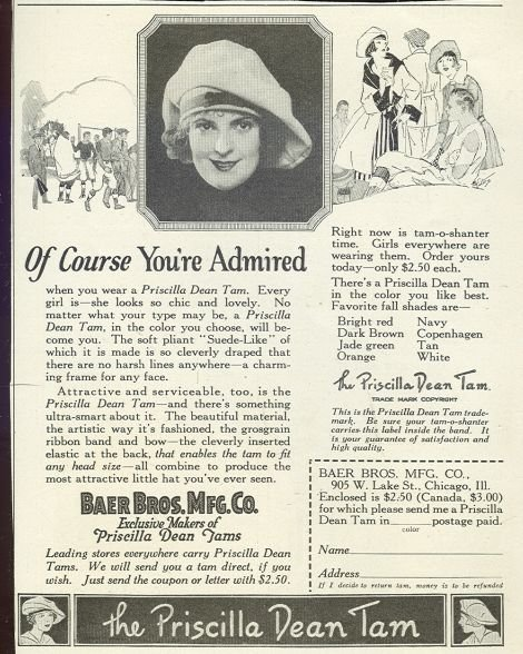 Priscilla Dean Tam 1921 Magazine Advertisement