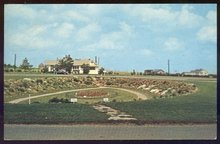 Postcard of Sunken Garden and Rockery Park Trans Canada Highway
