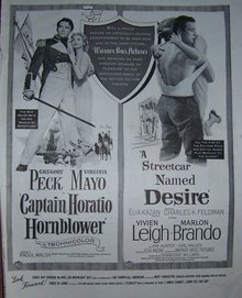 1951 Gregory Peck and Marlon Brando Magazine Ad