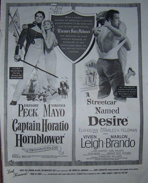 1951 Gregory Peck and Marlon Brando Magazine Ad