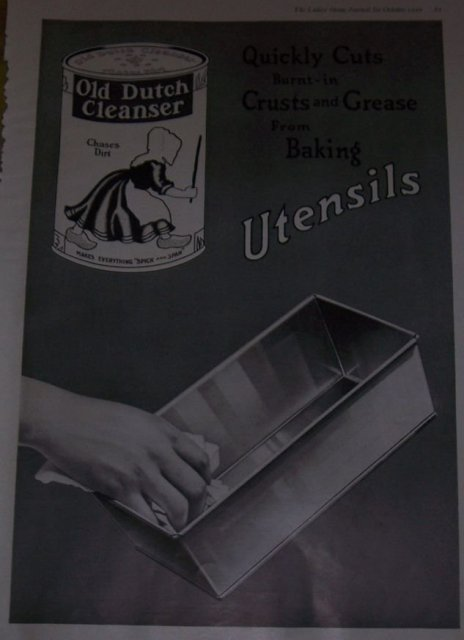 Old Dutch Cleanser Chases Dirt 1916 Advertisement