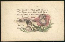 Heavenly Love Sepia Rose Romantic 1911 Postcard