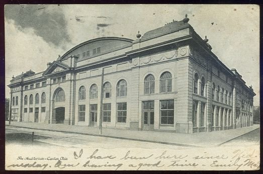 The Auditorium, Canton, Ohio 1906 Undivided Postcard