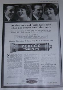 Pebeco Toothpaste Fights Acid Mouth 1916 Advertisement