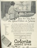 Latest Colors in Gowns with Colorite Dye 1921 Advertisment