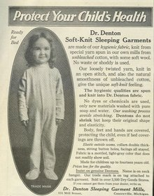 Dr. Denton Sleeping Garments 1921 Advertisement