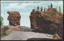 Postcard of Balanced Rock, Garden of the Gods, Colorado