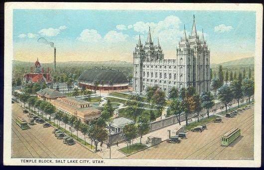 Postcard of Temple Block, Salt Lake City, Utah