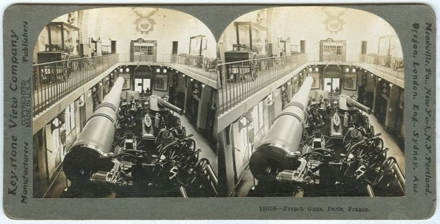 Maxim Guns Owned by the French Stereoview Card