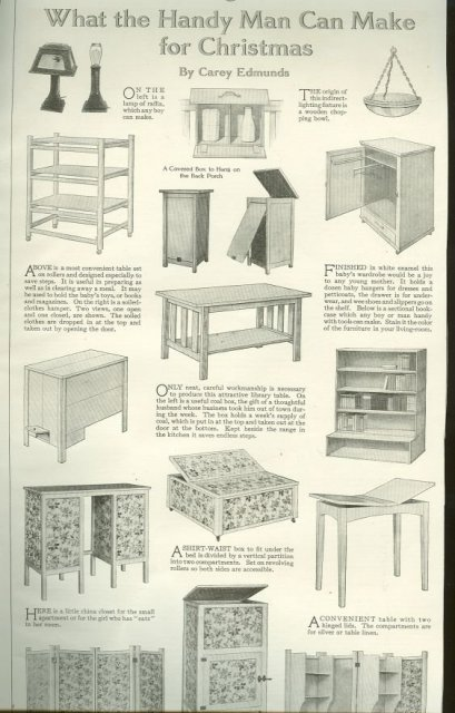 What the Handy Man Can Make for Christmas 1915 Page