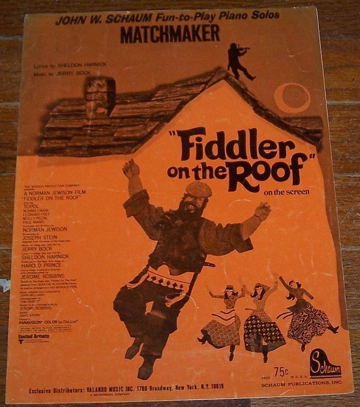 Matchmaker Piano Solo From the Movie Fiddler on the the Roof Starring Topol 1971