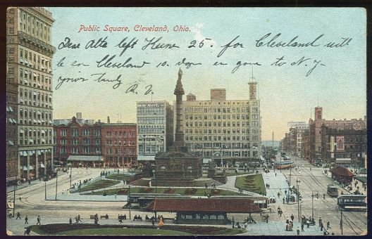 Postcard of Public Square Cleveland, Ohio 1907