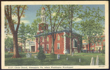 Postcard of Christ Church, Alexandria, Virginia 1941