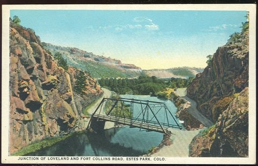 Postcard of Loveland and Fort Collins Rd Estes Park CO