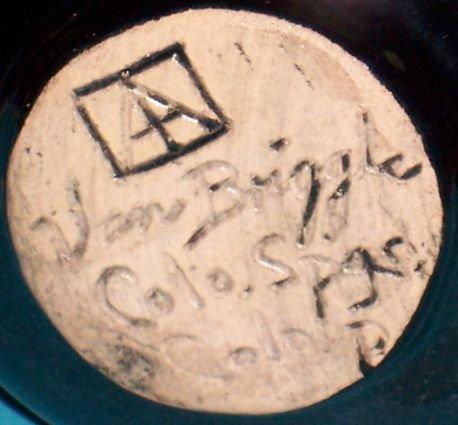 Van Briggle Art Pottery Black Glaze Vase