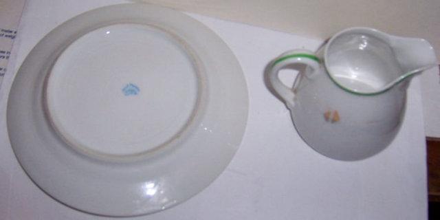 Three Piece Nippon China Child's Dish Set WithHandpainted Sailor Boy
