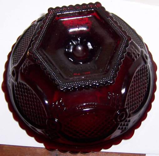 Avon Ruby Cape Cod Ruby Red Compote Candy Dish