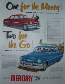 1951 Mercury Auto Two-Way Test Magazine Advertisment