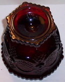 Avon Ruby Cape Cod Ruby Red Small Footed Sugar Bowl