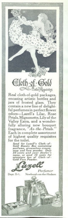Lazell Pefumer Cloth of Gold 1916 Advertisement