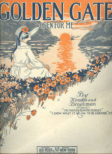Golden Gate Open For Me 1919 Sheet Music