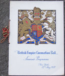 British Empire Coronation Ball Souvenir Programme New York, 12th May, 1937
